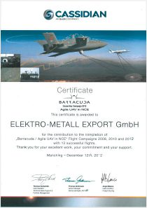 Barracuda Certificate · by Cassidian