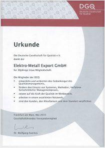 Membership Certificate · DGO