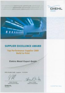 SUPPLIER EXCELLENCE AWARD · Diehl
