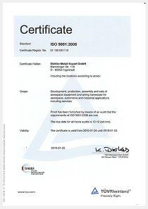 ISO 9001:2008 · TÜV Rheinland