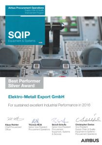 SQIP Award · by Airbus