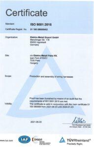 ISO 9001:2015 · TÜV Rheinland